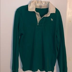 Abercrombie & Fitch Long Sleeve Polo Mens Small